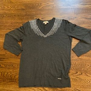 Michael Kors Embellished Sweater-Size L